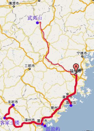 福州后山考场地图