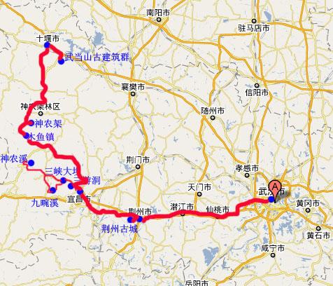 长江三峡巫山地图